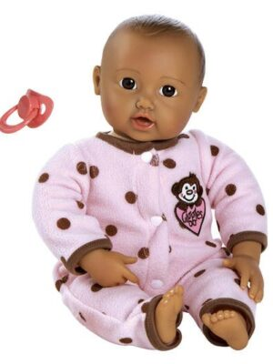 Giggle Time Baby Girl, Medium Skin, Dark Brown/Brown