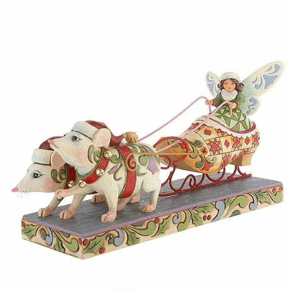 Fairy in Shoe Sleigh