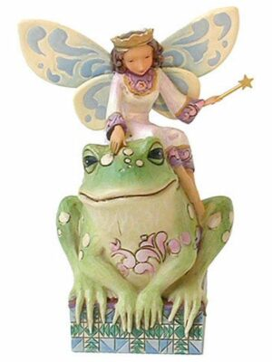 Fairy Princess with Frog Figurine