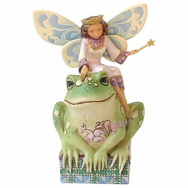 Fairy Princess with Frog Figurine