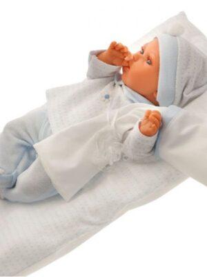 Peke Azul with Pillow
