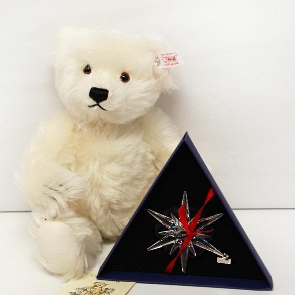 Crystal White Steiff Teddy Bear With Pendant