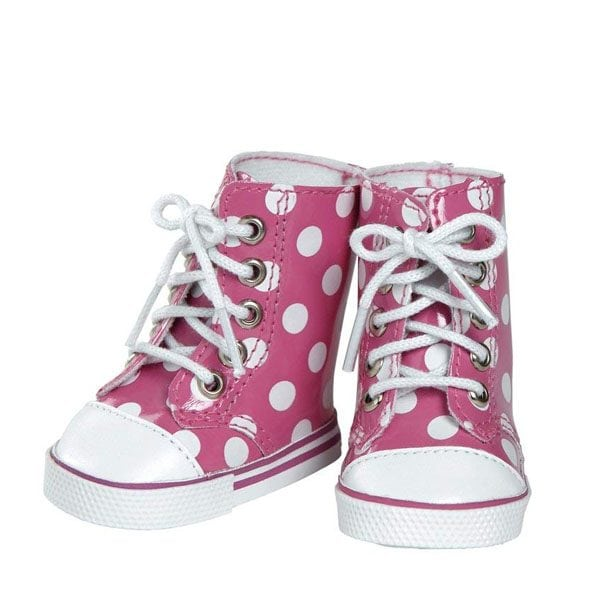Pink/White Polka Dot High Tops