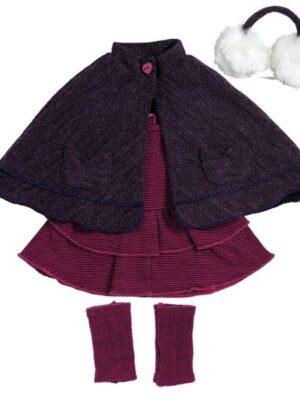 Snow Bunny Purple Cape Outfit