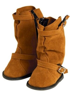 Brown Slouchy Boots with Buckle