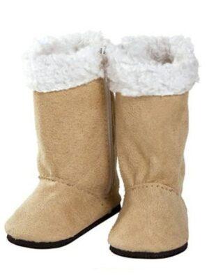Tan Boots w/Faux Sherpa Lining