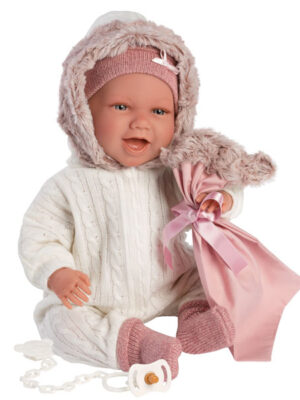 Crying Soft Body Baby Doll Lila with Car Seat