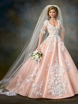 Blushing Bride Porcelain Bride Doll
