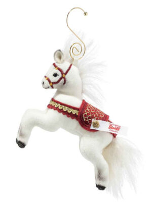 Christmas horse ornament